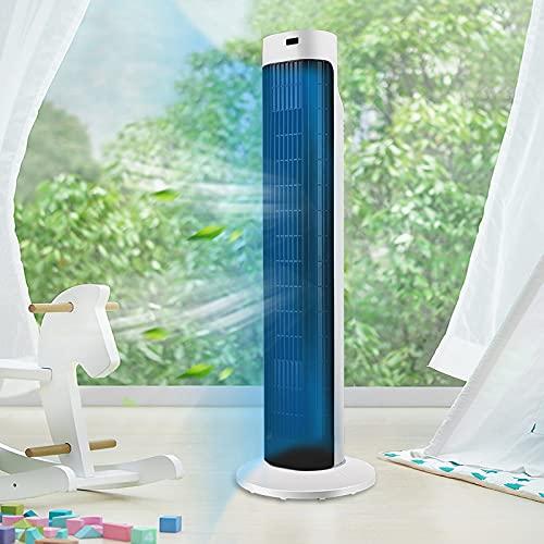 Aufun Ventilador de torre silencioso con mando a distancia y 60 ° Oscilante, 45W, 3 velocidades y temporizador, 80 cm de altura, columnas ventilador de diseño para verano oficina