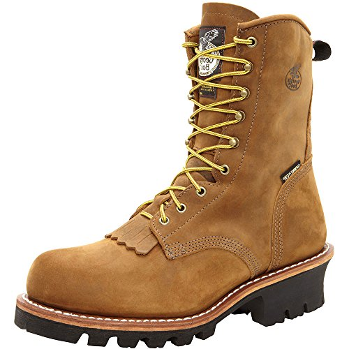 Georgia Boot Men's G9382 Logger Work Shoe, Worn Saddle, 9.5 M US