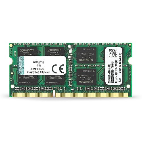 Kingston KVR16S11/8 - Memoria RAM de 8 GB (1600 MHz DDR3 Non-ECC CL11 SODIMM 204-pin 1.5V)
