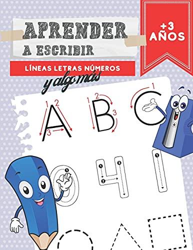 Aprender A Escribir Líneas Letras Números: Caligrafía Para Niños + 3 Años   Aprende A Repasar El Alfabeto   Ejercicios De Escritura Infantil