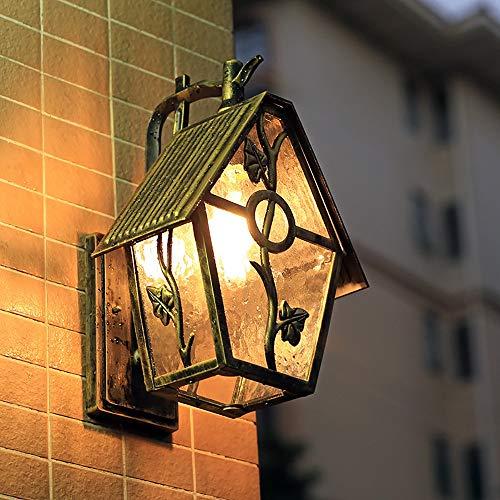 Warm Home Lámpara de pared para balcón, terraza o jardín, resistente al agua, lámpara de pared, estilo retro, pasillo al aire libre