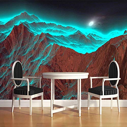 Papel tapiz fotográfico 3D para paredes de dormitorio naturaleza moderna paisaje montaña fotografía Fondo pared arte papel tapiz Mural-350x256cm