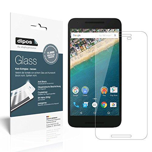 dipos I 2x Panzerfolie klar passend für Google Nexus 5X Schutzfolie 9H Bildschirmschutz-Folie