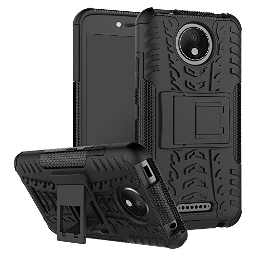 FoneExpert® Motorola Moto C Handy Tasche, Hülle Abdeckung Cover schutzhülle Tough Strong Rugged Shock Proof Heavy Duty Hülle Für Motorola Moto C