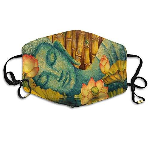 Das Beste aus dem Buddha Printeddust Unisex Tube Face Bandanas UV-Schutz Halsmanschette...