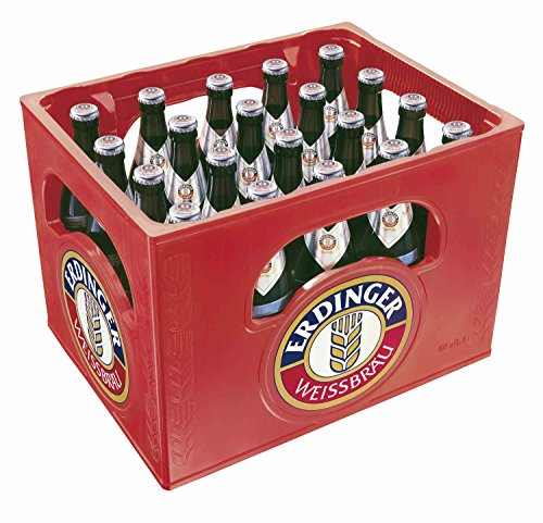 20 x Erdinger cerveza de trigo cristalina 0,5L caja original 5,3% vol de cerveza blanca