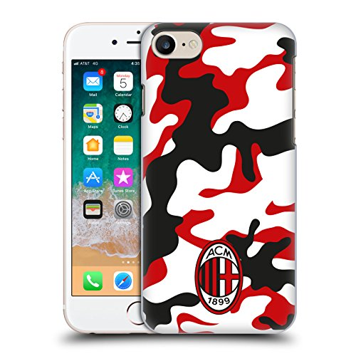 Head Case Designs Ufficiale AC Milan Camouflage Stemma Modelli Cover Dura per Parte Posteriore Compatibile con Apple iPhone 7 / iPhone 8 / iPhone SE 2020