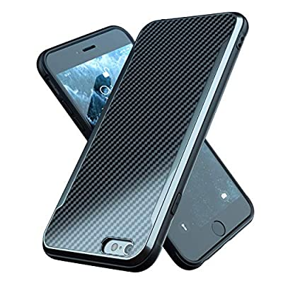 Nicexx Designed for iPhone 6 Plus Case/Designed for iPhone 6S Plus Case with Carbon Fiber Pattern, 12ft. Drop Tested, Wireless Charging Compatible - Black