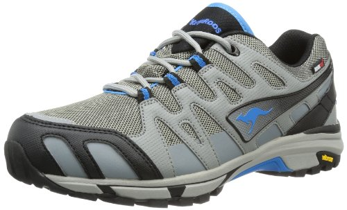 KangaROOS Vojak WP Men 7480A Unisex-Erwachsene Sneaker, Grau (Dark Grey/semi Grey/Sky Blue 224), EU 42