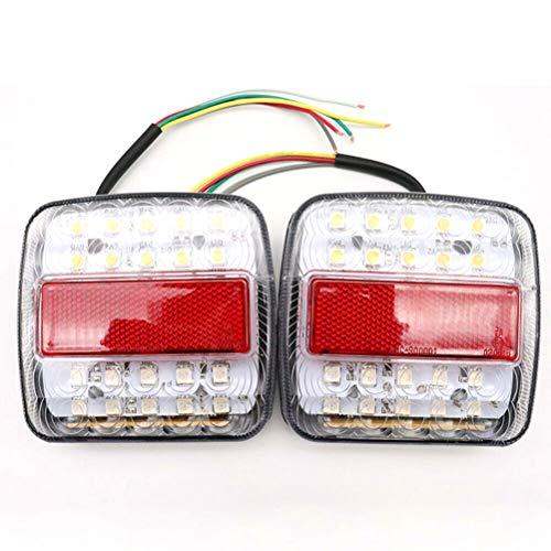 Luz Trasera de 26 Leds para Caravana, Luces traseras de LED de 12 V Indicadores de Freno Bajo Consumo de energía Luz Trasera de camión de Caravana Impermeable para camión, Remolque, chasis, Camper