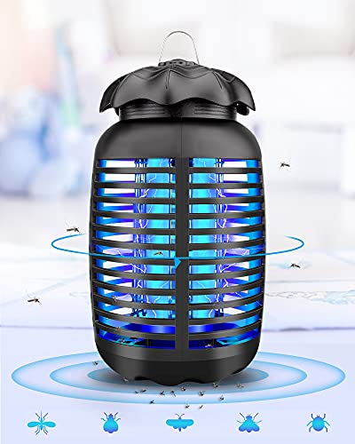 Burxoe Bug Zapper for Outdoor and Indoor, Electronic Mosquito Repellent Insect Killer for Backyard, Patio, Home,Office