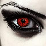 Designlenses, Dos lentillas de color rojo para Halloween monstruo...