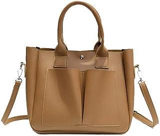 VogueZone009 Women's Shopping Pu Tote Bags Casual Crossbody Bags,CCABO210599