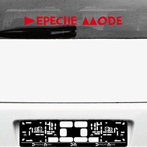 Greenit Schriftzug Delta Machine Aufkleber Tattoo Die Cut Car Decal Auto Heck Deko Folie Autofolie Autoaufkleber Depeche Mode Schwarz Invers Auto