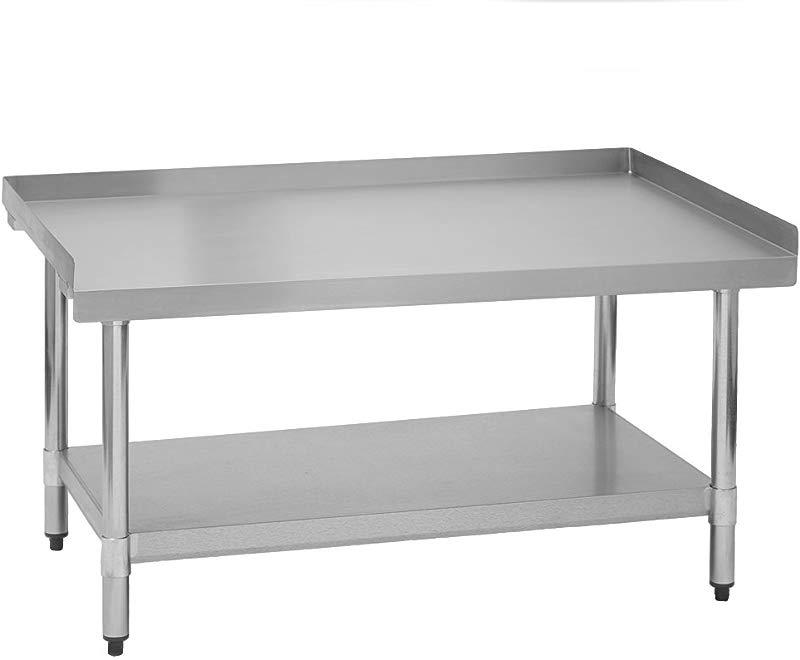 Fenix Sol Commercial Restaurant Equipment Stand 30 W X 72 L X 24 H Galvanized Legs And Undershelf