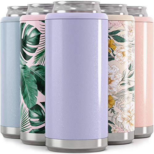 Maars Skinny Can Cooler for Slim Beer & Hard Seltzer | Stainless Steel 12oz Sleeve, Double Wall...