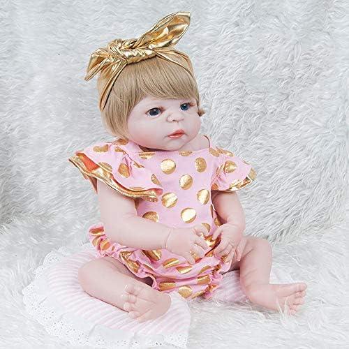 Hongge Reborn Baby Doll,Lebensechte Silikon Baby Reborn Puppe Neugeborenes Doll Kind Spielzeug Geschenk 57cm