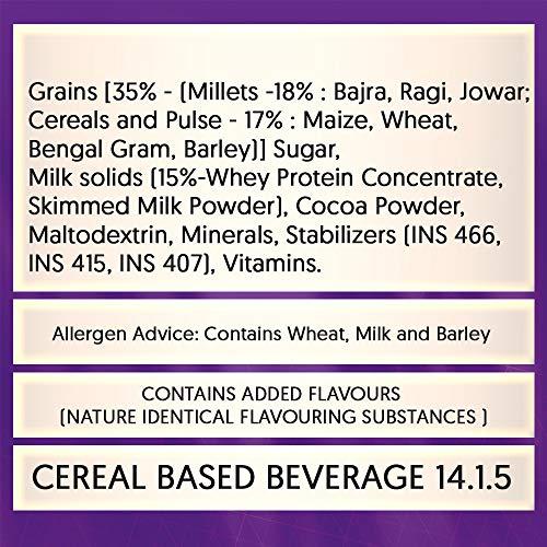 Manna Go Grains - Multigrain Instant Drink Mix - 400g Pack (Chocolate Flavour)