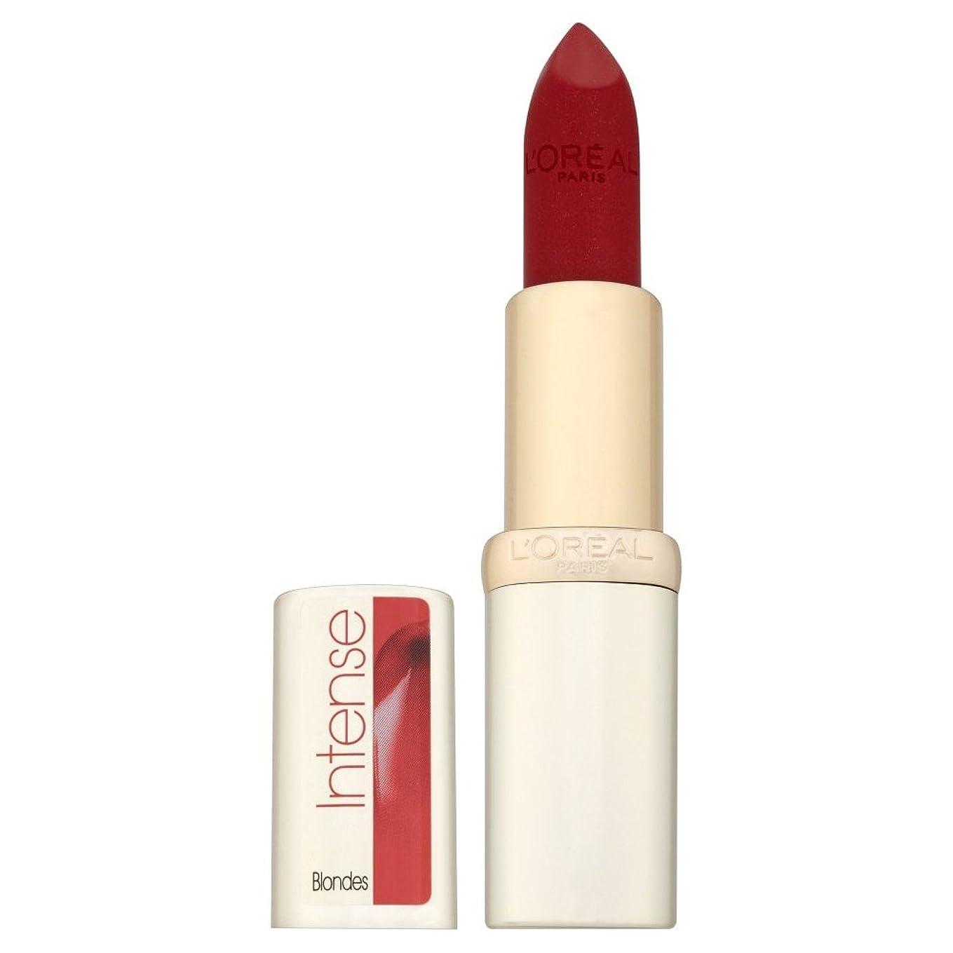 視線素晴らしい建てるL'Oreal Paris Color Riche Intense Blondes Lipstick - 297 Red Passion L'オラ?アルパリカラーリッシュ強烈なブロンドの口紅 - 297赤の情熱 [並行輸入品]