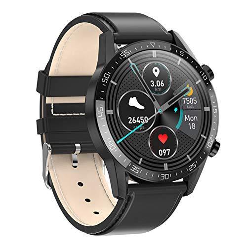 Smart Watch, L13, Hombres De Negocios, Llamadas De Bluetooth, Reloj De Hombre ECG Presión De La Presión Cardíaca Fitness Tracker Sportwatch PK L16 L19 para Android iOS,E