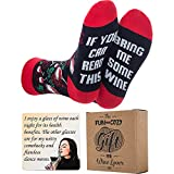 Wine Gifts for Women - Christmas Gifts for Mom, Her, Stocking Stuffers - Gift Ready Packaging - Funny Women Gifts If You Can Read This Socks Bring Me Some Wine Socks, Wine Coaster