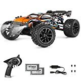 HOBBY GRADE FAST REMOTE CONTROL TRUCK: In lineal acceleration with powerful RC 380 motor, this 1/18th scale 4WD Boys proportional Remote Control Car speeds topping to 36KM/H. Detailed Independent Suspension, solid hobby design chassis with full ball ...