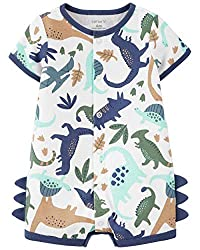 3. Carter's Baby Boy's Dinosaur with Spikes Romper