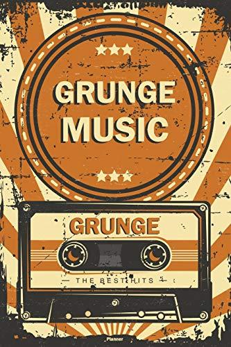 Grunge Music Planner: Retro Vintage Grunge Music Cassette Calendar 2020 - 6 x 9 inch 120 pages gift