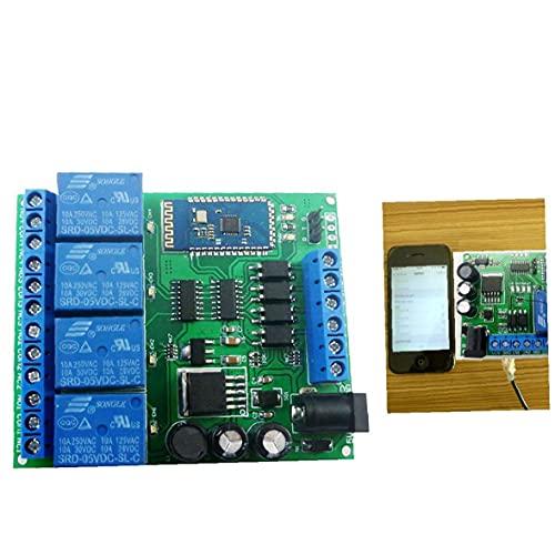 Módulo de relé de 4 Canales Bluetooth DC 5V 9V 24V 12 Smart Wireless Auto-Bloqueo momentáneo de Bloqueo Remoto Interruptor de Control de Azul para el Trabajo Manual Delicado