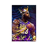 WETUO Lebron James Lakers King Poster, dekoratives