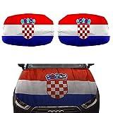 Sonia Originelli Fan-Paket-15 Auto WM Länder Fußball Motorhaube Außenspiegel Flagge Farbe Kroatien