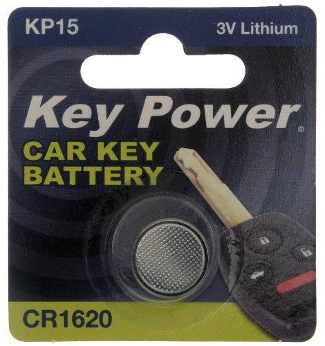 Key Power CR1620-KP - Batteria al Litio a Bottone da 3 V, Lunga Durata, Ideale per dispositivi di Sicurezza