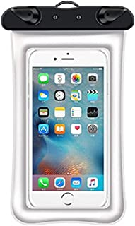 HLD Mobil vattentät väska 2 st Vattentät Mobiltelefonväska Universal Uppblåsbar Ring Mobiltelefon Väska Touch Screen Trans...