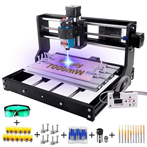 7W Laser Engraver CNC 3018 Pro GRBL Control Engraving Machine, 3 Axis PCB...