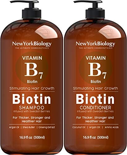 Biotin Shampoo and Conditioner Set for Hair Growth and Thinning Hair Thickening Formula for product image