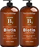 Biotin Shampoo and Conditioner Set for Hair Growth and Thinning Hair – Thickening Formula for Hair Loss Treatment – For Men & Women – Anti Dandruff - 16.9 fl Oz