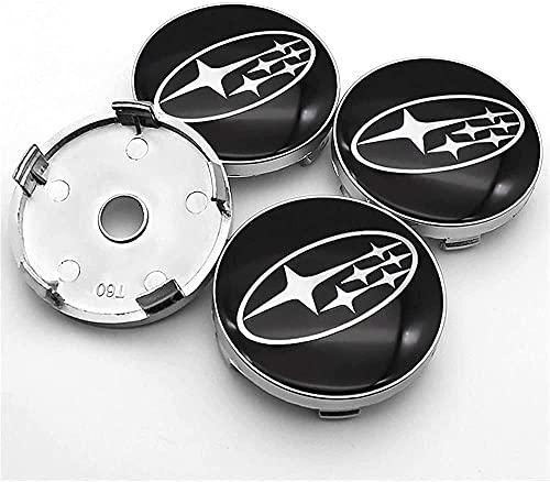 4 Piezas Coche Tapacubos, para Subaru- Forester Rueda Tapas Centrales Prueba de Polvo Decorativa Accesorios De Estilo