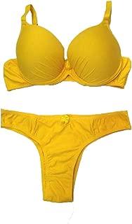 Conjunto Lingerie Microfibra Amarelo