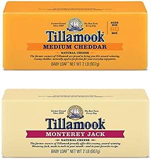 Tillamook Medium Cheddar Cheese & Monterey Jack Cheese Bundle of 2 Lb Loaves