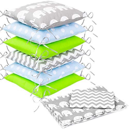 Zieba - Biancheria da letto, design 21, con cuscini paracolpi, 100 x 135 cm