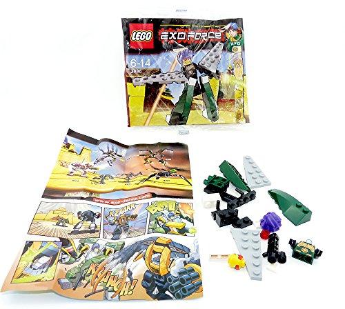 LEGO Exo Force Mini Figure Set #3886 Green Exo Fighter Ryo Walker Bagged by LEGO