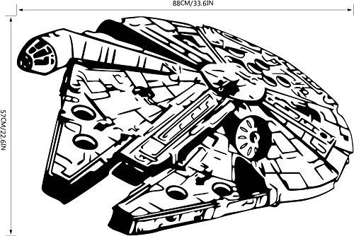 Pegatinas De Pared Creativas Con Personajes De Star Wars, Decoración De Sala De Estar, Pegatinas De Decoración De Dormitorio Tamaño de composición 57 * 88cm