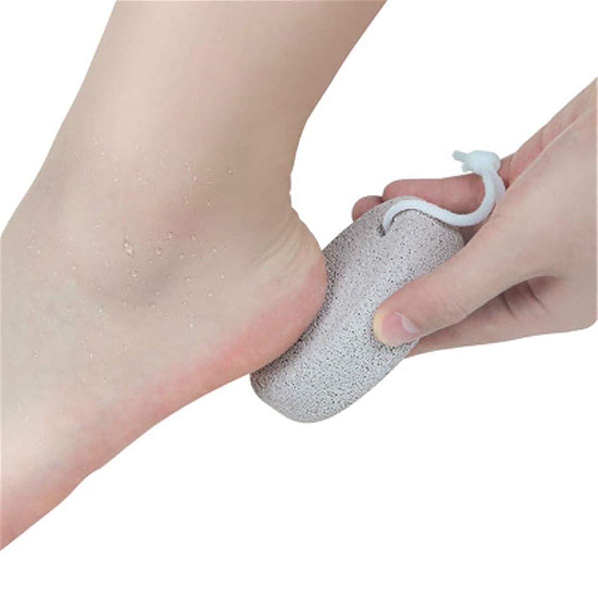 原油ベーコンセミナー足の平らな滑らかなフットケアツールを剥離するために死んだ肌マッサージ両面足ひれへの天然軽石足ペディキュア