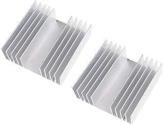 Shiwaki Radiador De Disipador T/érmico De Aluminio De 50 Piezas//Enfriador De Aleta De Enfriamiento 28x28x8 Mm