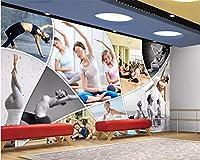 カスタム壁紙家の装飾サイズHDフィットネス美容ヨガ壁画背景壁壁紙-400 * 280cm