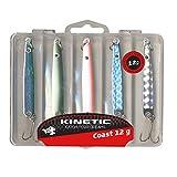 Kinetic 5er Multipack, bestehend aus Köderbox und 5 Hornhecht- und Meerforellen-Blinkern,...