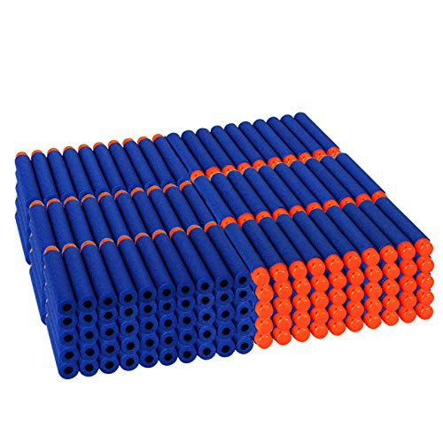 Dreampark 300 PCS Refill Bullet Darts for N-Strike Elite Blasters Nerf Guns Standard Size and Soft Hollow Rubber Tips for Kids Toys ( Blue )