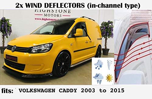 OEMM Windabweiser für Volkswagen Caddy VW-Fensterabweiser, Typ 2K, 2003 2004 2005 2006 2007 2008 2009 2010 2011 2012 2013 2014 2015 Acrylglas-Seitenblenden