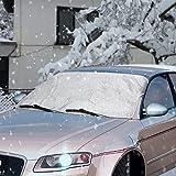 Scheibenabdeckung,Topist Frontscheibe Abdeckung Frontscheibenabdeckung Auto Frostschutz,Windschutzscheiben Abdeckung Autoabdeckung Winterabdeckung für SUV Minivan mit Eiskratzer - 63*46.5inch