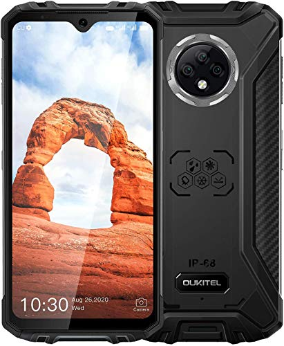 Unlocked Rugged Smartphone, OUKITEL WP8 Pro 6.49 inch Android 10 Cellphone 5000mAh Battery 4GB RAM + 64GB ROM 4G Dual SIM 16MP Rear Triple Camera NFC Global Version